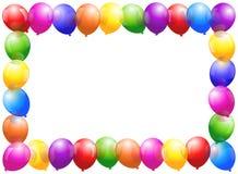 Quadro dos balões ilustração stock