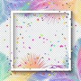 Quadro dos confetes ilustração royalty free