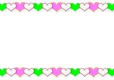 Quadro dos corações Fotos de Stock