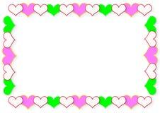 Quadro dos corações Fotografia de Stock Royalty Free