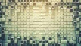 Quadro dos cubos e da rendição do sumário 3D do espaço livre Fotos de Stock Royalty Free