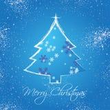 Quadro dos cumprimentos do Natal ilustração do vetor