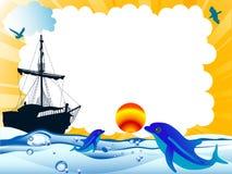 Quadro dos desenhos animados Fotografia de Stock Royalty Free