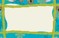 Quadro dos desenhos animados - tema natural no fundo Imagens de Stock