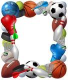 Quadro dos esportes ilustração stock