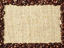 Quadro dos feijões de café Foto de Stock