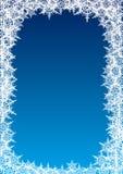Quadro dos flocos de neve ilustração royalty free