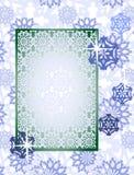 Quadro dos flocos de neve foto de stock