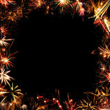 Quadro dos fogos-de-artifício Imagens de Stock Royalty Free