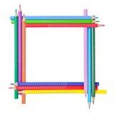Quadro dos lápis da cor Fotografia de Stock