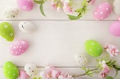 Quadro dos ovos da páscoa Imagens de Stock