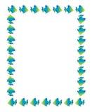 Quadro dos peixes dos desenhos animados Imagens de Stock