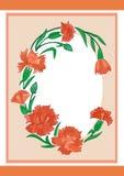 Quadro dos rosa com fundo Imagens de Stock