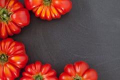 Quadro dos tomates do bife Imagens de Stock