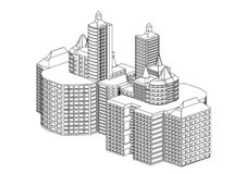 Quadro dos whitebuildings ilustração royalty free