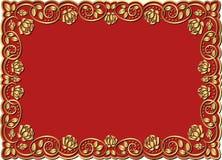 Quadro dourado Imagem de Stock