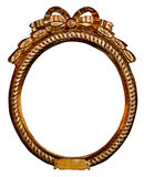 Quadro dourado arredondado foto de stock royalty free