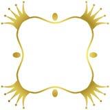 Quadro dourado da beira das coroas ilustração stock