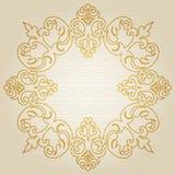 Quadro dourado do ornamento Fotografia de Stock