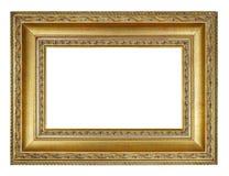 Quadro dourado do retângulo velho do vintage foto de stock