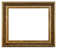 Quadro dourado do vintage velho em um fundo branco imagens de stock