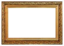 Quadro dourado do vintage velho em um fundo branco imagem de stock royalty free
