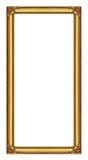 Quadro dourado isolado no fundo branco,  Fotografia de Stock