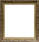 Quadro dourado velho com o ornamento para pintar Foto de Stock Royalty Free