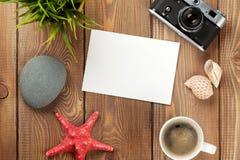 Quadro e artigos do curso e da foto das férias Foto de Stock Royalty Free