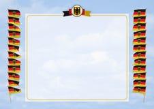 Quadro e beira com bandeira e brasão Alemanha ilustração 3D Fotos de Stock
