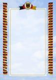 Quadro e beira com bandeira e brasão Alemanha ilustração 3D Foto de Stock Royalty Free