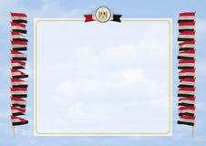 Quadro e beira com bandeira e brasão Egito ilustração 3D Fotos de Stock