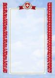 Quadro e beira com Suíça da bandeira e da brasão ilustração 3D Imagens de Stock Royalty Free