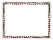 Quadro e beira da fita com a bandeira da Guiné Equatorial ilustração 3D Fotos de Stock