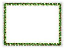 Quadro e beira da fita com a bandeira da Zâmbia ilustração 3D Foto de Stock Royalty Free