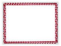 Quadro e beira da fita com a bandeira de Arkansas do estado, EUA ilustração 3D Fotos de Stock