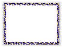 Quadro e beira da fita com a bandeira de Bósnia e de Herzegovina ilustração 3D Fotografia de Stock Royalty Free