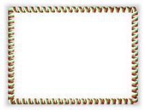 Quadro e beira da fita com a bandeira de Bulgária ilustração 3D Foto de Stock Royalty Free