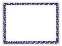 Quadro e beira da fita com a bandeira de Cabo Verde, afiando da corda dourada ilustração 3D Imagens de Stock Royalty Free