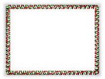 Quadro e beira da fita com a bandeira de Emiratos Árabes Unidos ilustração 3D Foto de Stock