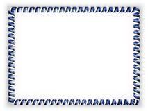 Quadro e beira da fita com a bandeira de Estônia ilustração 3D Fotos de Stock
