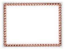 Quadro e beira da fita com a bandeira de Florida do estado, EUA, afiando da corda dourada ilustração 3D Fotos de Stock