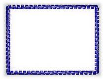 Quadro e beira da fita com a bandeira de Kansas do estado, EUA ilustração 3D Imagem de Stock