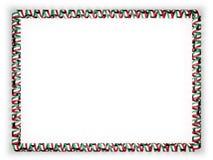 Quadro e beira da fita com a bandeira de Kuwait ilustração 3D imagem de stock royalty free