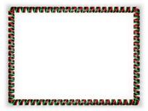 Quadro e beira da fita com a bandeira de Libéria ilustração 3D Fotografia de Stock Royalty Free