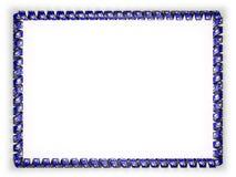 Quadro e beira da fita com a bandeira de Louisiana do estado, EUA, afiando da corda dourada ilustração 3D Foto de Stock Royalty Free