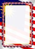 Quadro e beira da fita com bandeira de Malásia, elementos do molde para seu certificado e diploma Vetor Fotografia de Stock Royalty Free