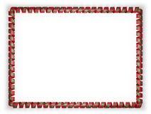 Quadro e beira da fita com a bandeira de Maldivas ilustração 3D Imagens de Stock Royalty Free
