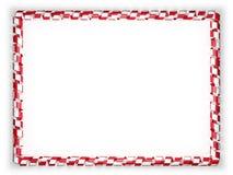 Quadro e beira da fita com a bandeira de Malta ilustração 3D Imagem de Stock