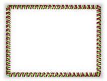 Quadro e beira da fita com a bandeira de Maurícias ilustração 3D Fotos de Stock